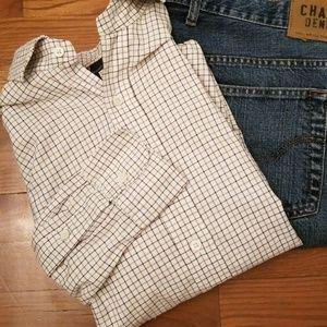 Polo By Ralph Lauren Brown Checkered Shirt